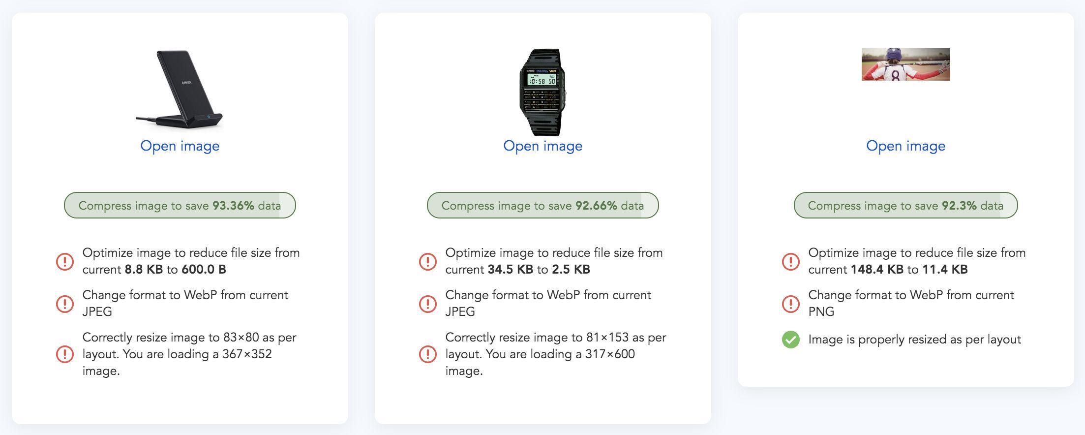website result for website image analysis