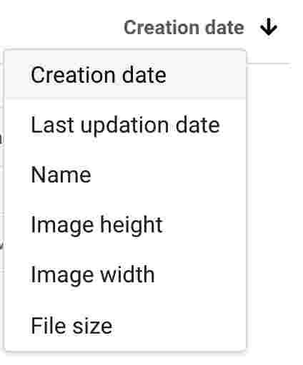 Image sort filter